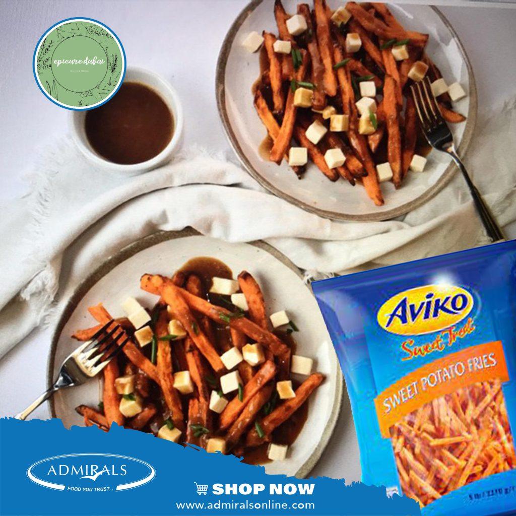 Epicure Dubai - Sweet Potato Poutine with Vegetarian Gravy